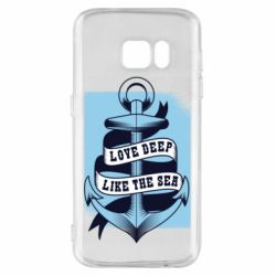 Чехол для Samsung S7 Love deep like the sea