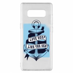 Чехол для Samsung Note 8 Love deep like the sea