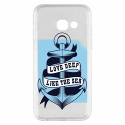 Чехол для Samsung A3 2017 Love deep like the sea