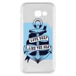 Чехол для Samsung A5 2017 Love deep like the sea