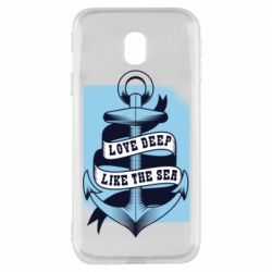 Чехол для Samsung J3 2017 Love deep like the sea