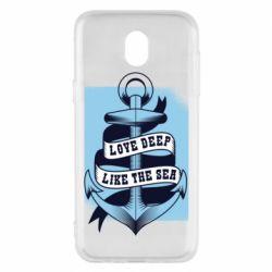 Чохол для Samsung J5 2017 Love deep like the sea
