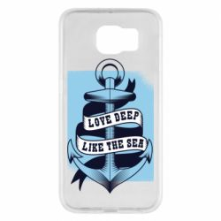 Чехол для Samsung S6 Love deep like the sea
