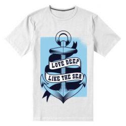 Чоловіча стрейчева футболка Love deep like the sea