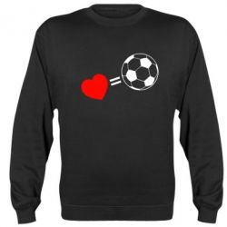 Реглан (свитшот) Love=Football - FatLine