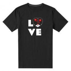 Чоловіча стрейчева футболка LOVE hedgehogs