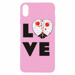 Чохол для iPhone X/Xs LOVE hedgehogs