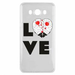 Чохол для Samsung J7 2016 LOVE hedgehogs