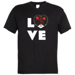 Чоловіча футболка з V-подібним вирізом LOVE hedgehogs