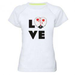 Жіноча спортивна футболка LOVE hedgehogs
