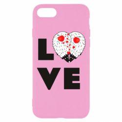 Чохол для iPhone 7 LOVE hedgehogs