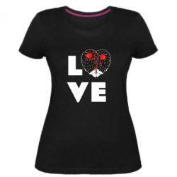 Жіноча стрейчева футболка LOVE hedgehogs