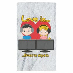 Рушник Love is .. play together