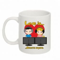 Кружка 320ml Love is .. play together