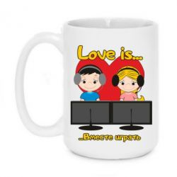 Кружка 420ml Love is .. play together