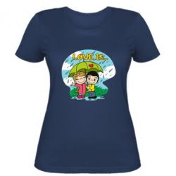 Жіноча футболка Love is ... in the rain
