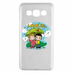 Чохол для Samsung A3 2015 Love is ... in the rain