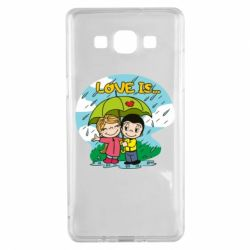 Чохол для Samsung A5 2015 Love is ... in the rain