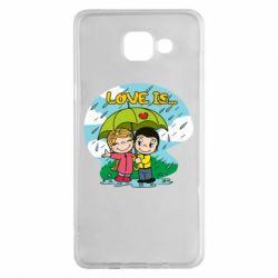 Чохол для Samsung A5 2016 Love is ... in the rain