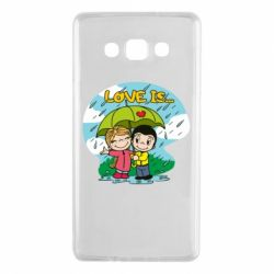 Чохол для Samsung A7 2015 Love is ... in the rain