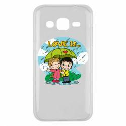 Чохол для Samsung J2 2015 Love is ... in the rain