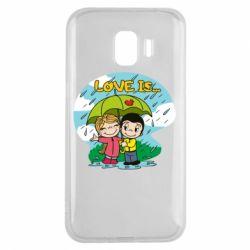 Чохол для Samsung J2 2018 Love is ... in the rain
