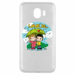 Чохол для Samsung J4 Love is ... in the rain