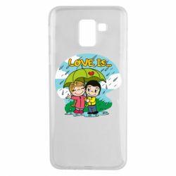 Чохол для Samsung J6 Love is ... in the rain