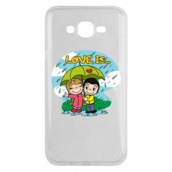 Чохол для Samsung J7 2015 Love is ... in the rain