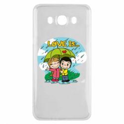 Чохол для Samsung J7 2016 Love is ... in the rain