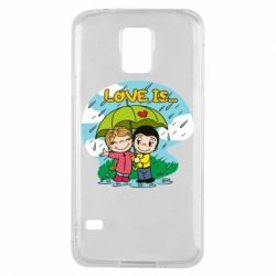 Чохол для Samsung S5 Love is ... in the rain