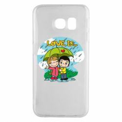 Чохол для Samsung S6 EDGE Love is ... in the rain