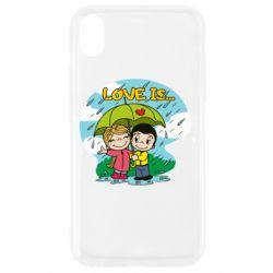 Чохол для iPhone XR Love is ... in the rain