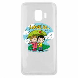 Чохол для Samsung J2 Core Love is ... in the rain