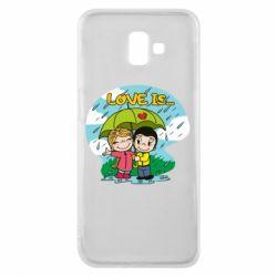 Чохол для Samsung J6 Plus 2018 Love is ... in the rain