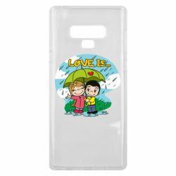 Чохол для Samsung Note 9 Love is ... in the rain