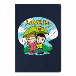 Блокнот А5 Love is ... in the rain