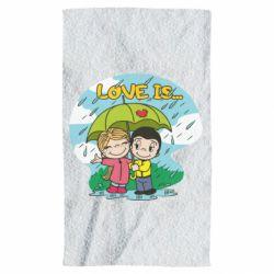 Рушник Love is ... in the rain