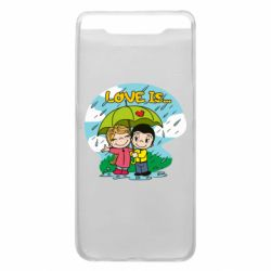 Чохол для Samsung A80 Love is ... in the rain