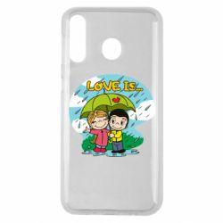 Чохол для Samsung M30 Love is ... in the rain