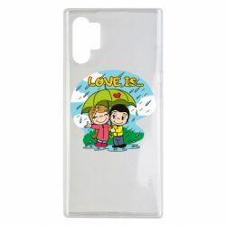 Чохол для Samsung Note 10 Plus Love is ... in the rain