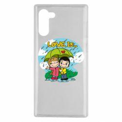 Чохол для Samsung Note 10 Love is ... in the rain