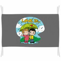 Прапор Love is ... in the rain