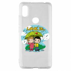 Чохол для Xiaomi Redmi S2 Love is ... in the rain