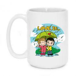 Кружка 420ml Love is ... in the rain