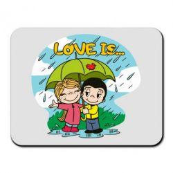 Килимок для миші Love is ... in the rain
