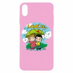 Чохол для iPhone X/Xs Love is ... in the rain