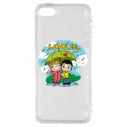 Чохол для iphone 5/5S/SE Love is ... in the rain