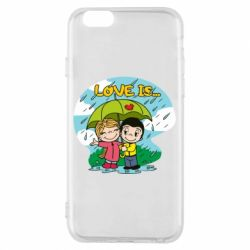 Чохол для iPhone 6/6S Love is ... in the rain