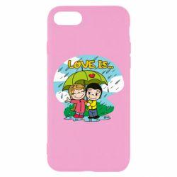 Чохол для iPhone 7 Love is ... in the rain